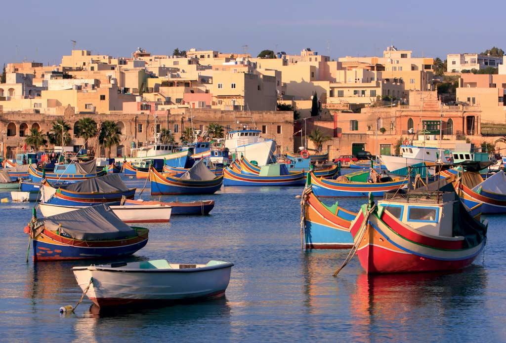 Le petit port de pèche de Marsaxlokk