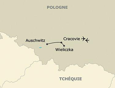 L'itinéraire du circuit Découverte en étoile à Cracovie