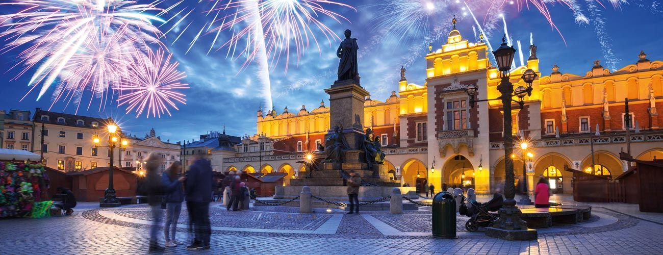Soirée de réveillon à Cracovie