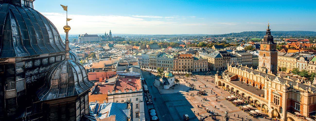 Vue des toits de Cracovie