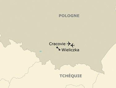 Itinéraire de votre programme en Pologne
