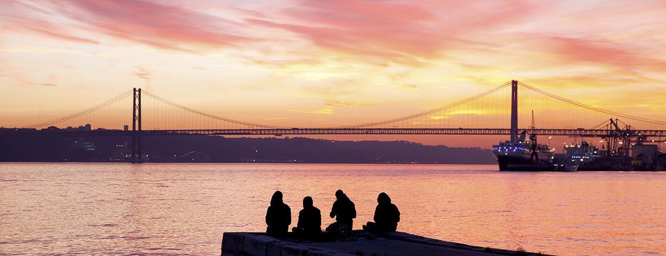 Pont de Lisbonne au coucher de soleil