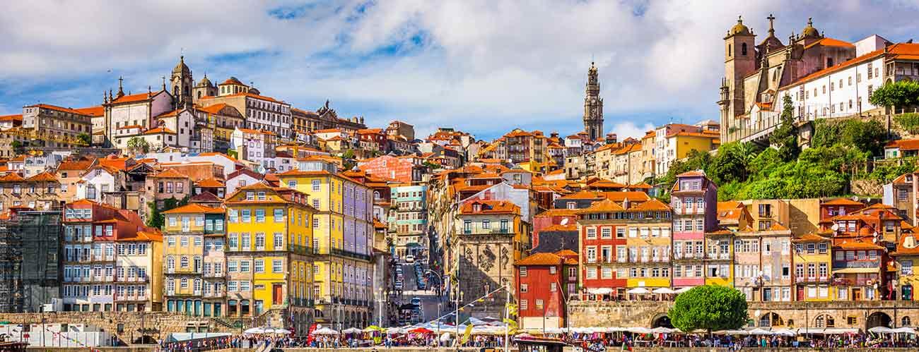 Vue de Porto, au Portugal